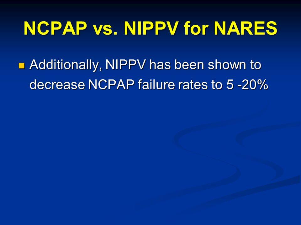 NCPAP vs. NIPPV for NARES