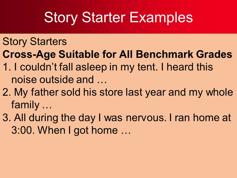 Story Starter Examples