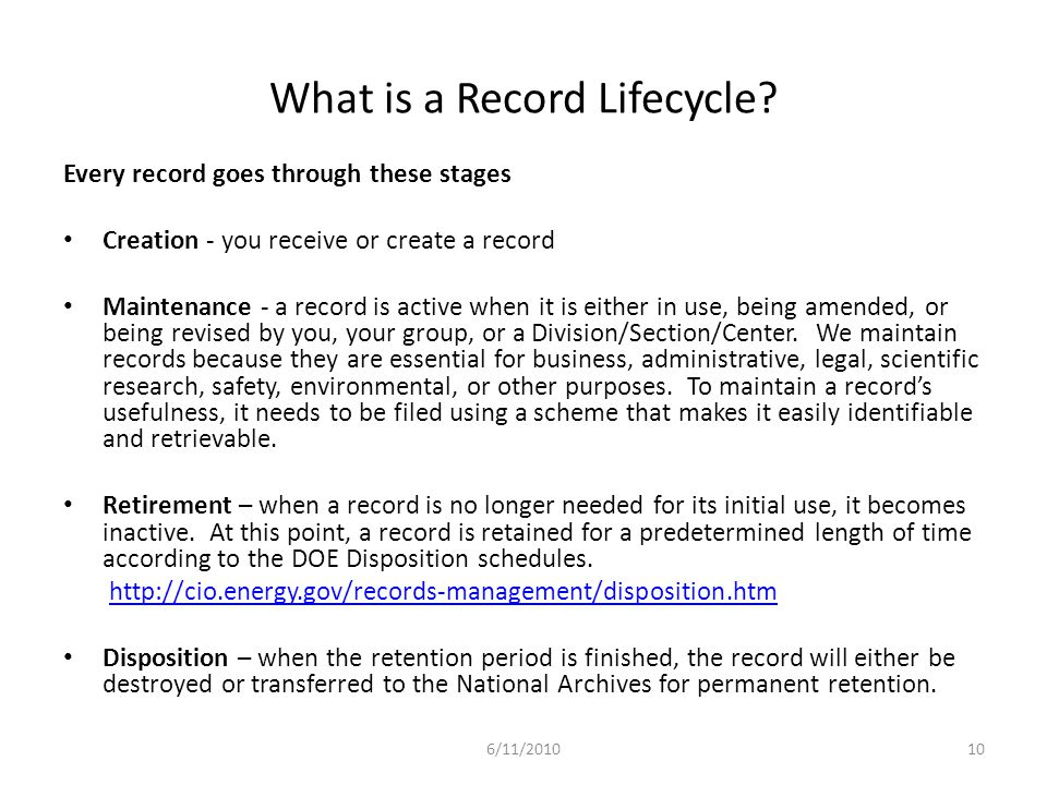 What is a Record Lifecycle