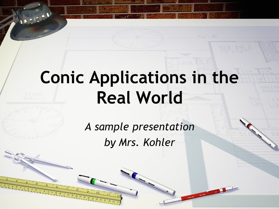 Conic Applications in the Real World