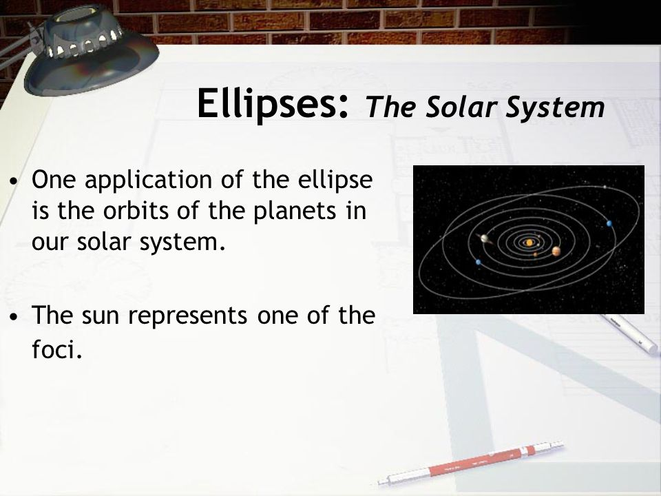 Ellipses: The Solar System