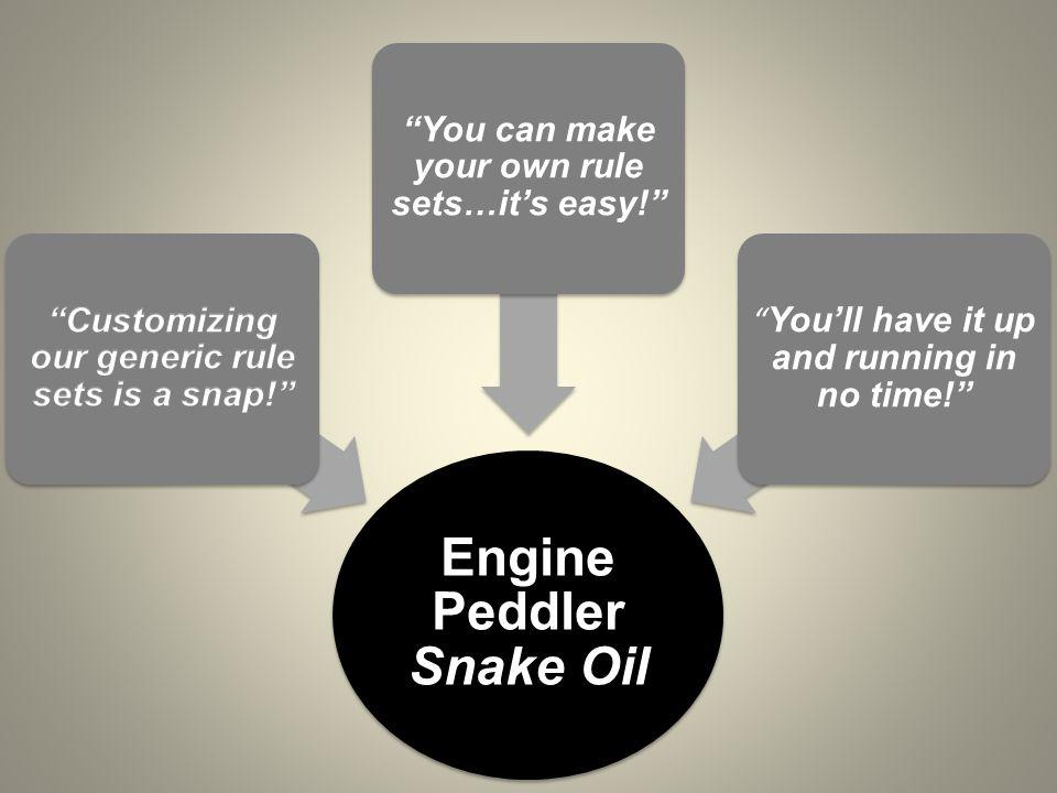 Engine Peddler Snake Oil