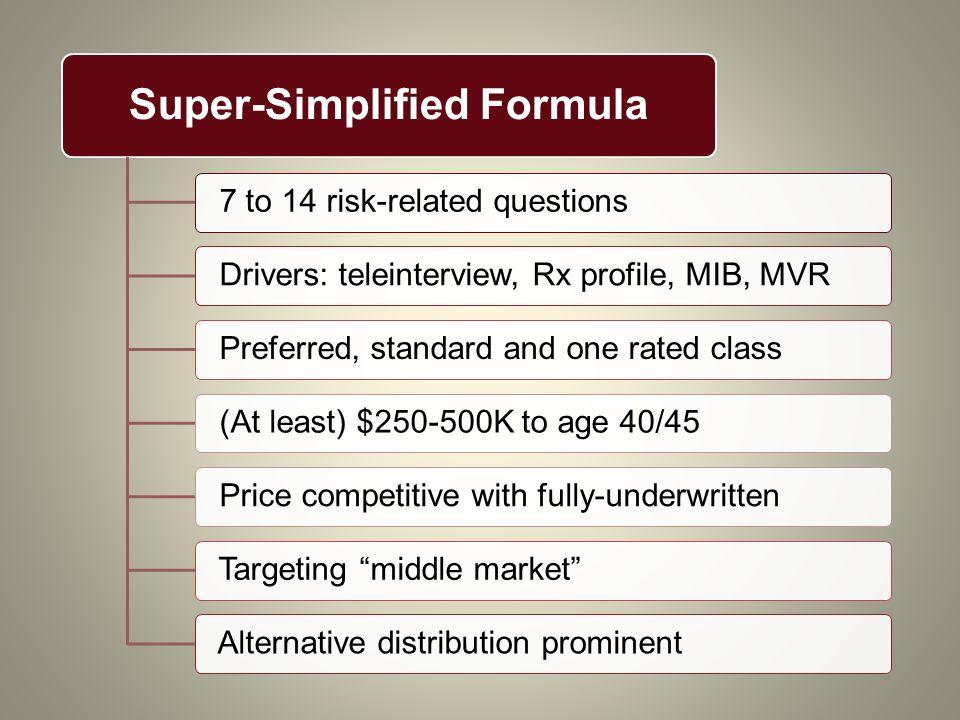 Super-Simplified Formula