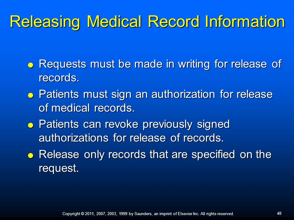 Releasing Medical Record Information