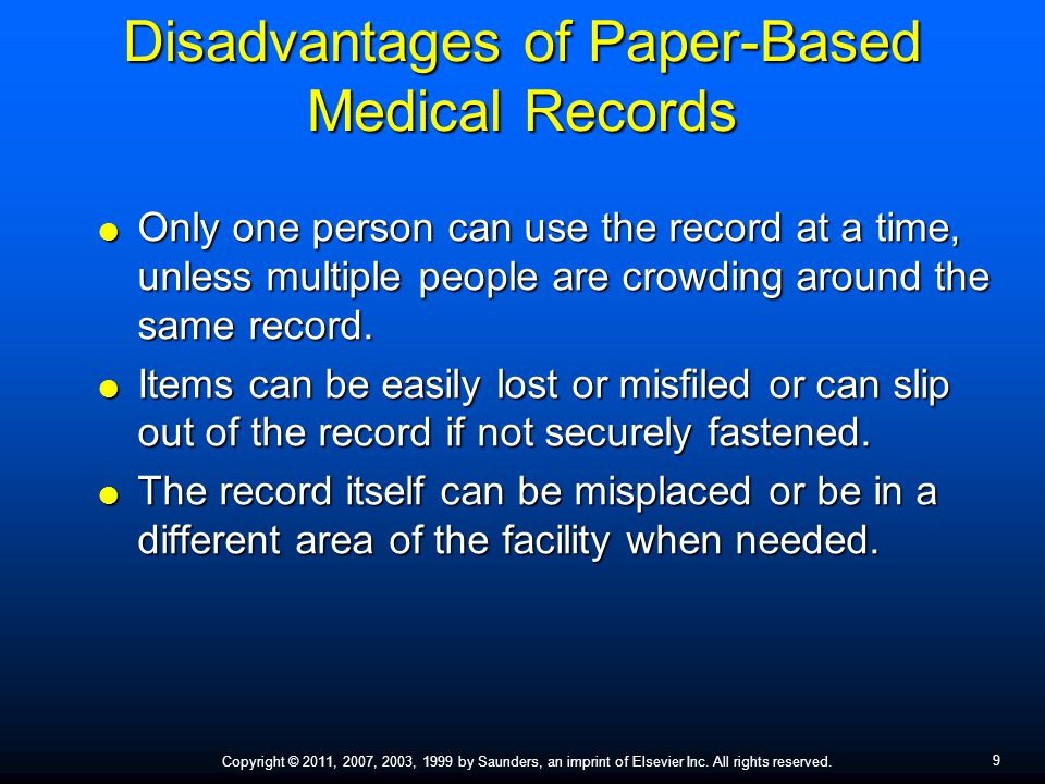 Disadvantages of Paper-Based Medical Records