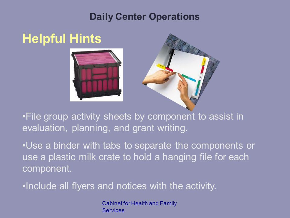 Daily Center Operations