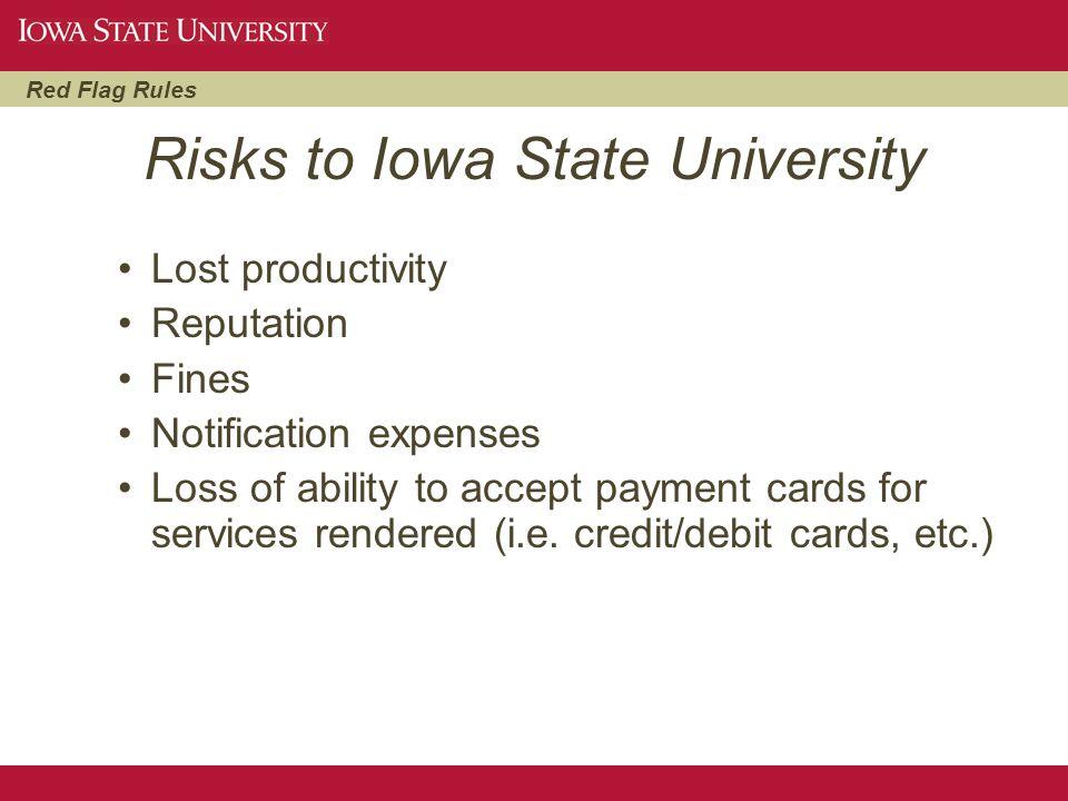 Risks to Iowa State University