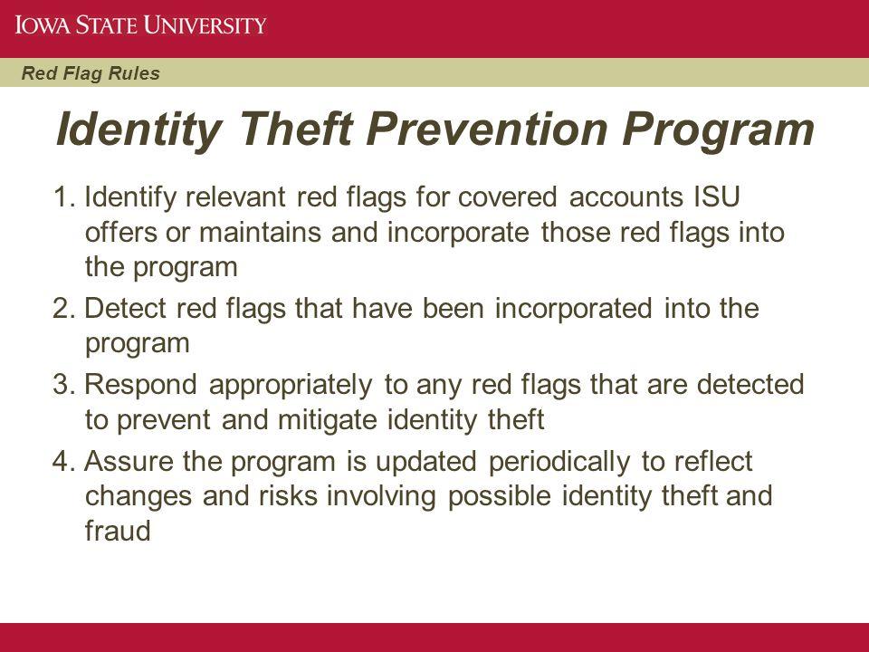 Identity Theft Prevention Program