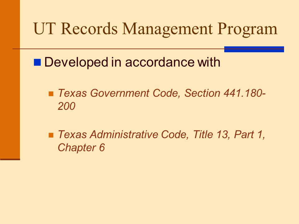 UT Records Management Program