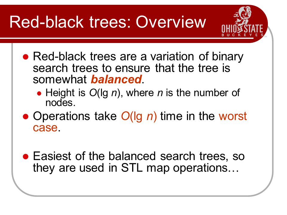 Red-black trees: Overview