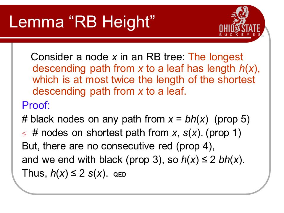 Lemma RB Height