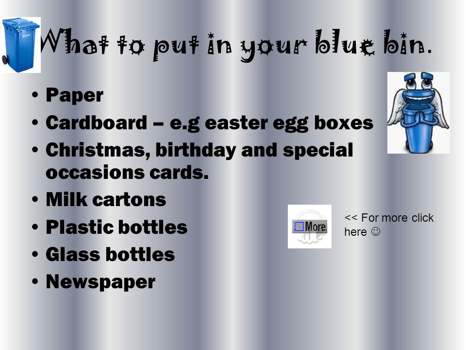 What to put in your blue bin.
