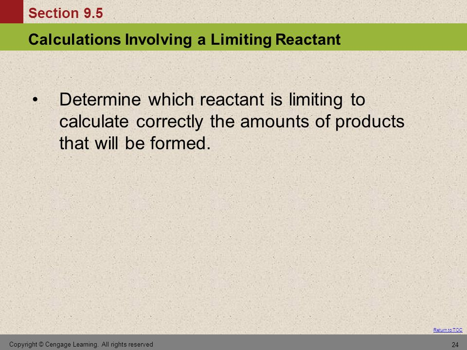 Determine which reactant is limiting to calculate correctly the amounts of products that will be formed.