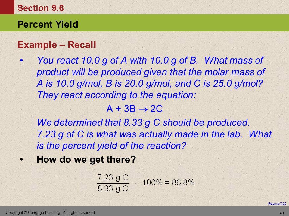 Example – Recall
