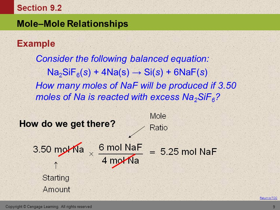 Consider the following balanced equation: