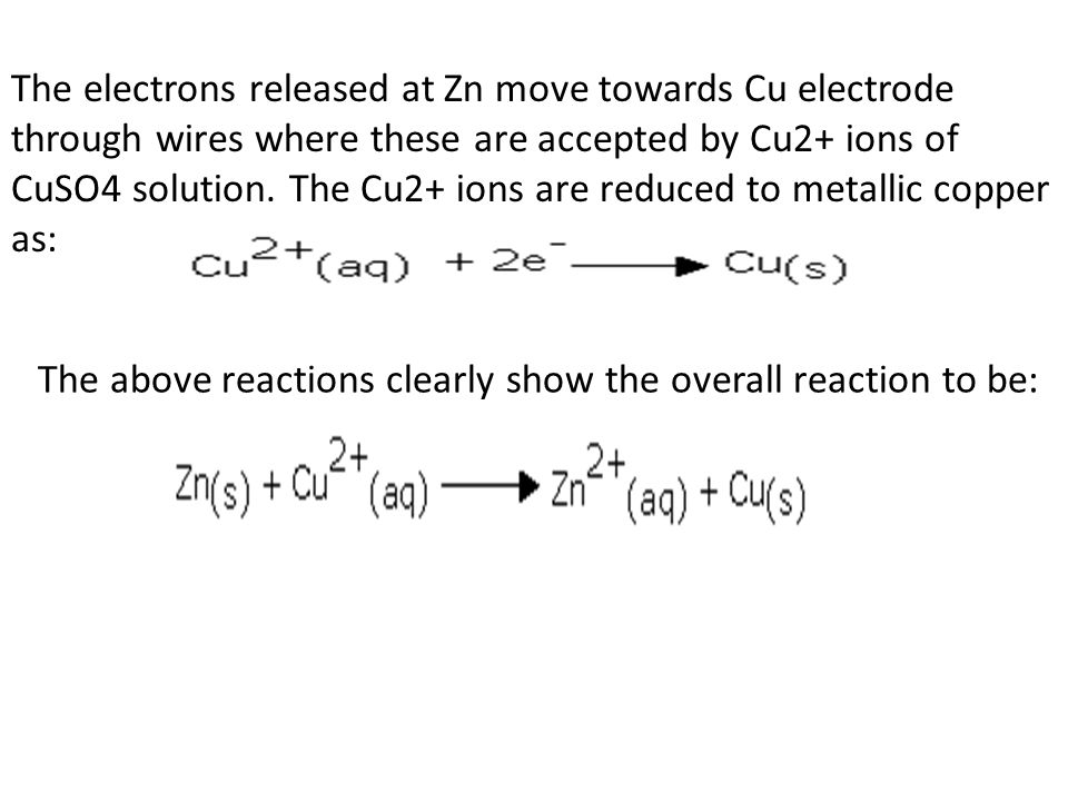 The above reactions clearly show the overall reaction to be: