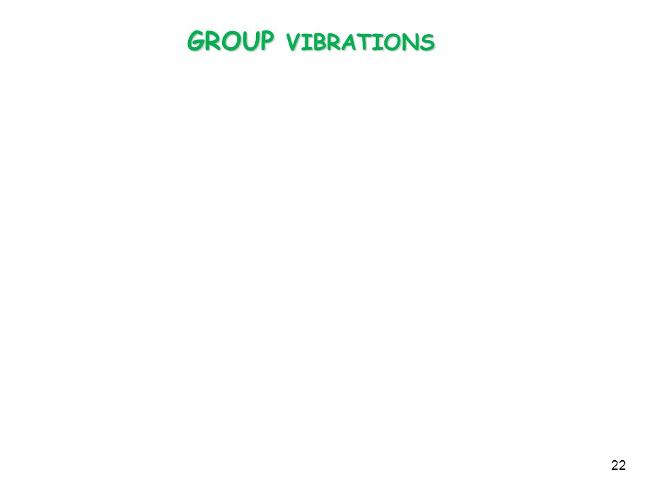 GROUP VIBRATIONS
