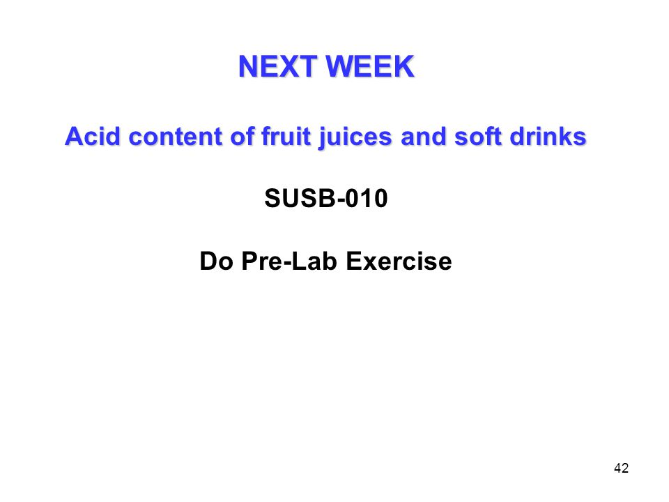 Acid content of fruit juices and soft drinks