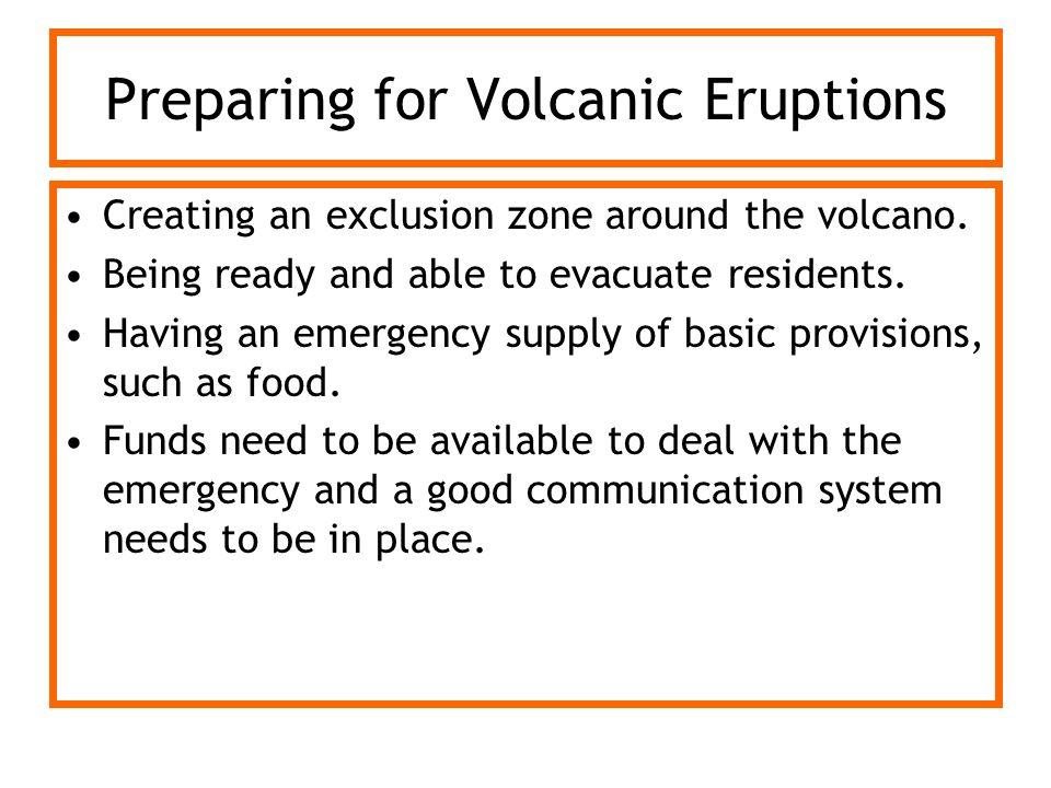 Preparing for Volcanic Eruptions