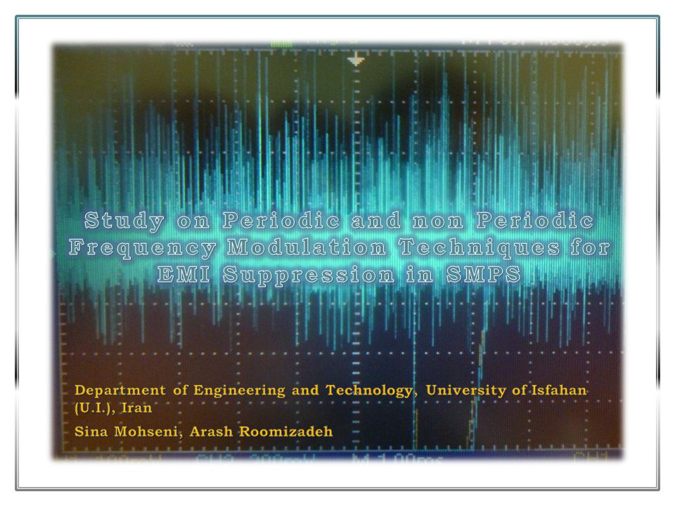 Study on Periodic and non Periodic Frequency Modulation Techniques for EMI Suppression in SMPS