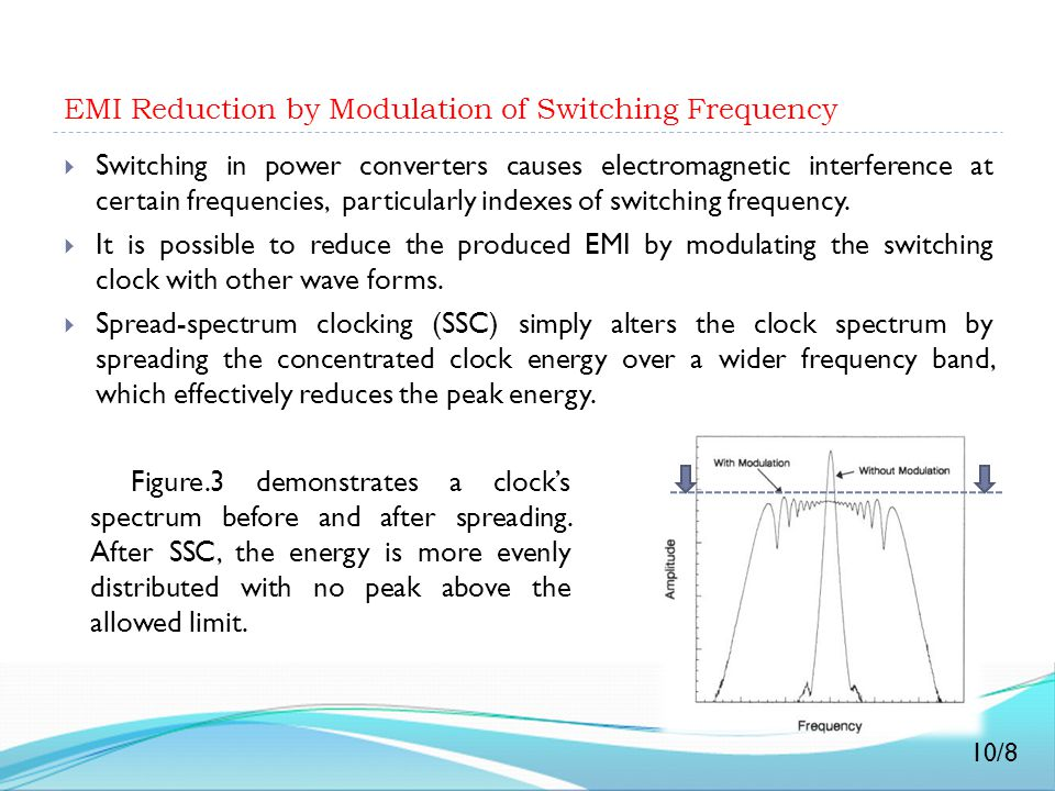 EMI Reduction by Modulation of Switching Frequency
