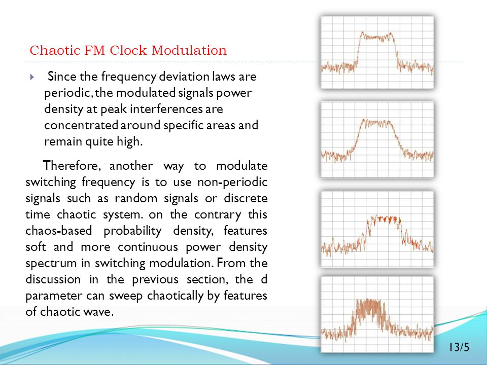 Chaotic FM Clock Modulation