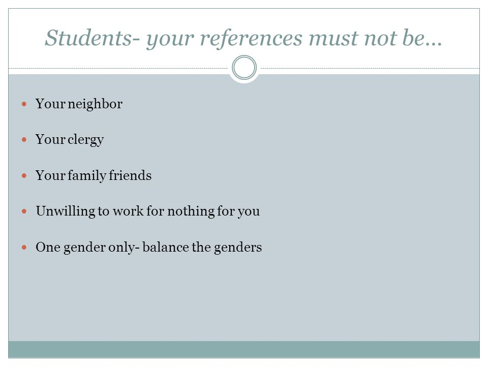 Students- your references must not be…