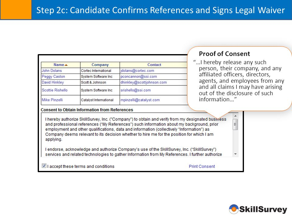 Step 2b: Candidate Inputs References