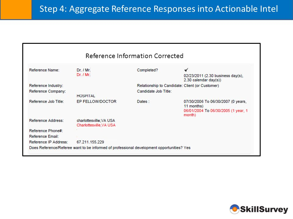 Step 4: Aggregate Reference Responses into Actionable Intel