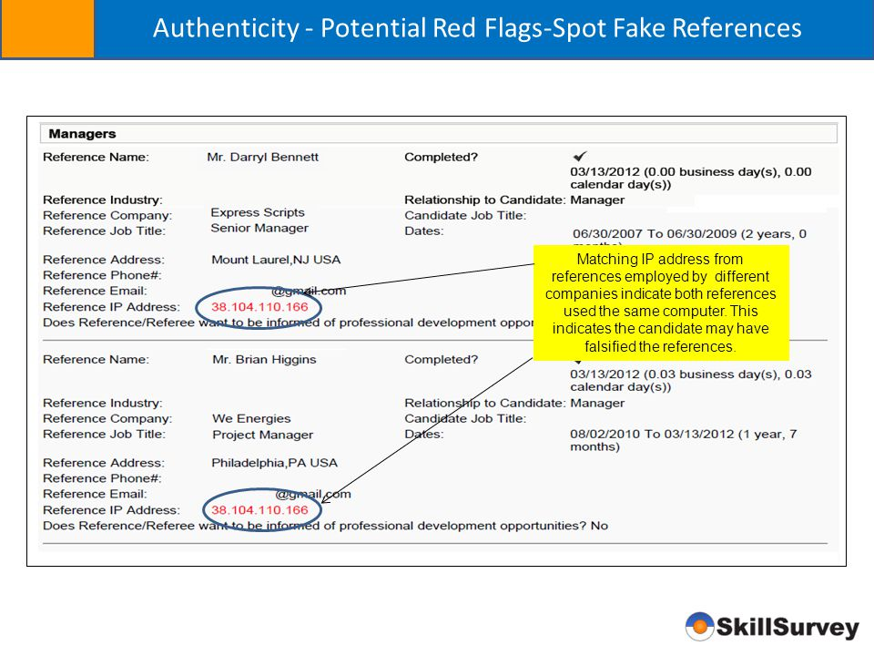 Authenticity - Potential Red Flags-Spot Fake References