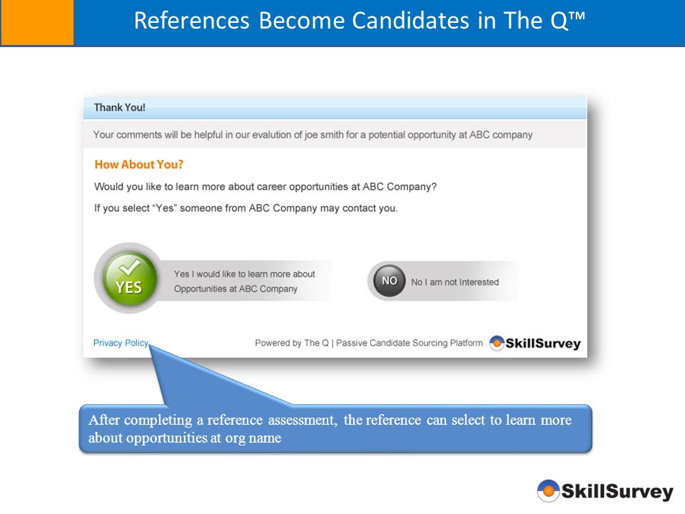 References Become Candidates in The Q™