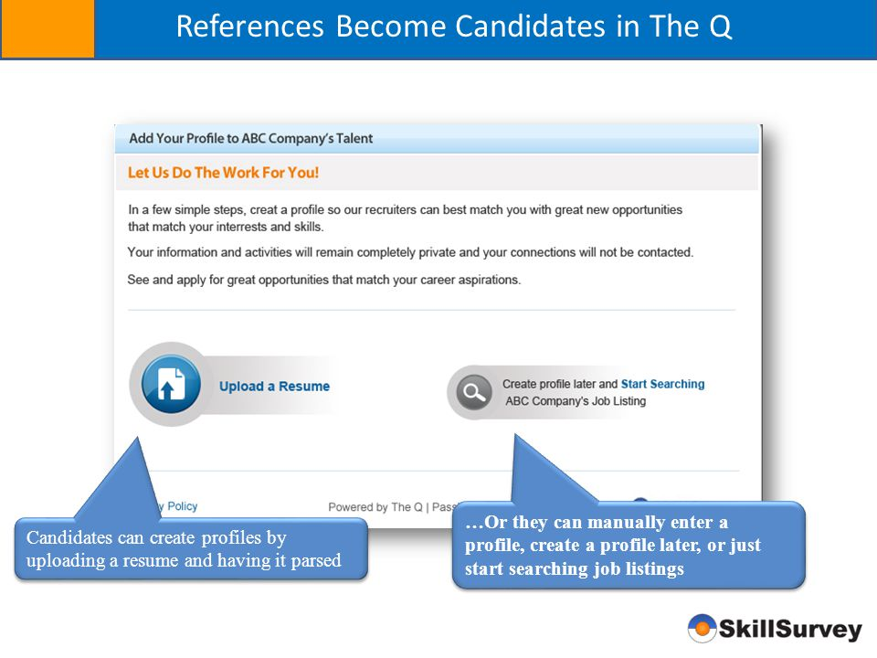 References Become Candidates in The Q