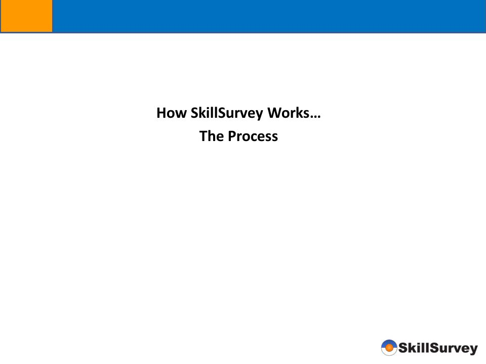 How SkillSurvey Works…