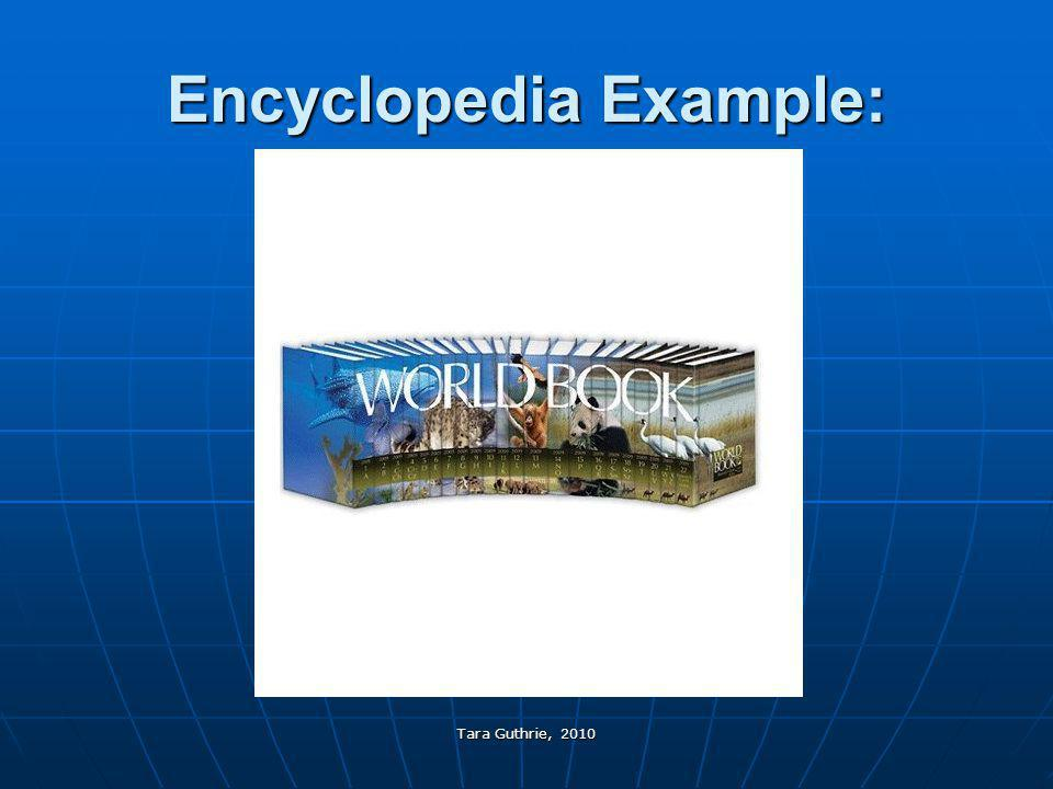 Encyclopedia Example: