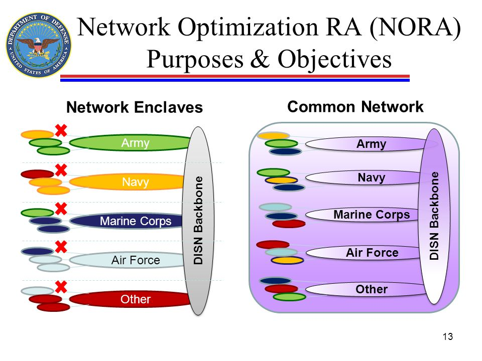 Network Optimization RA (NORA) Purposes & Objectives