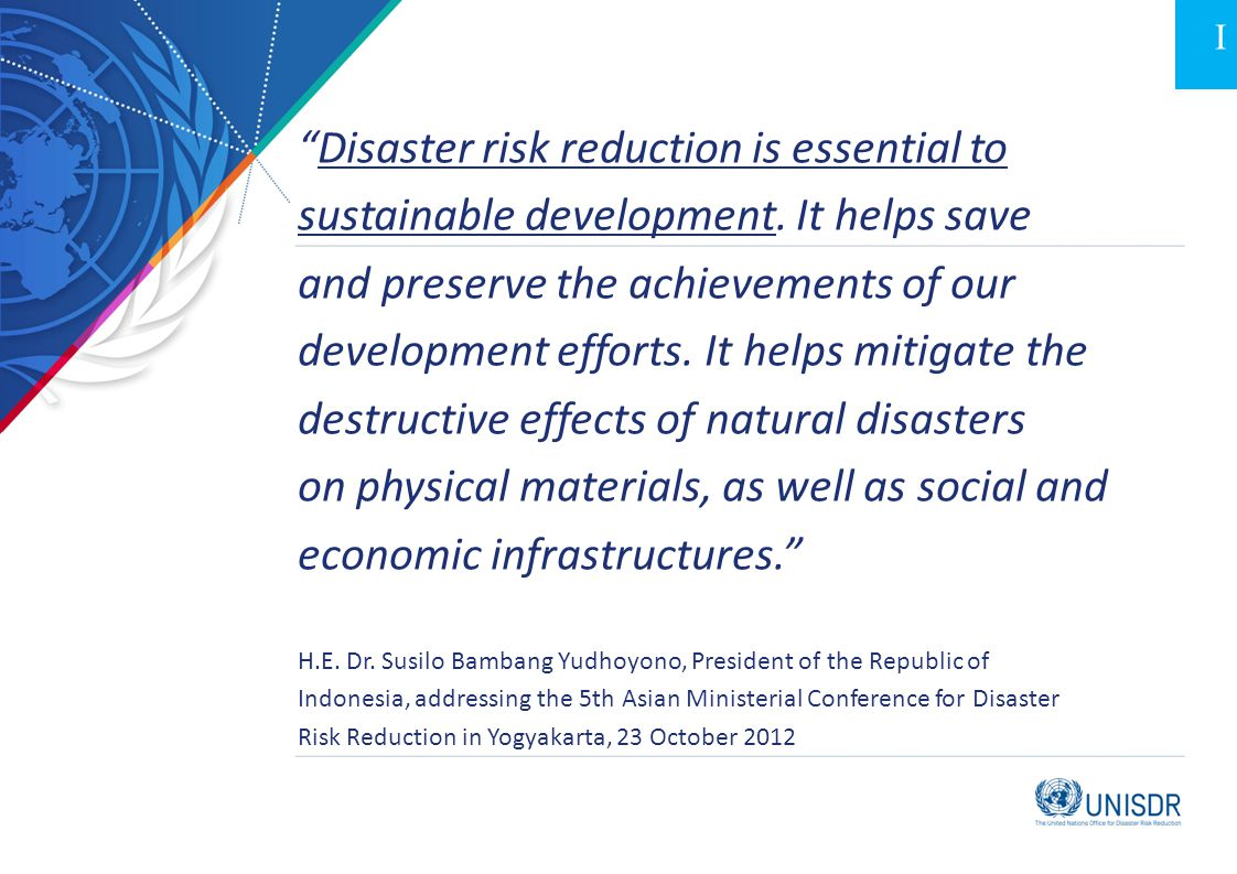 Disaster risk reduction is essential to