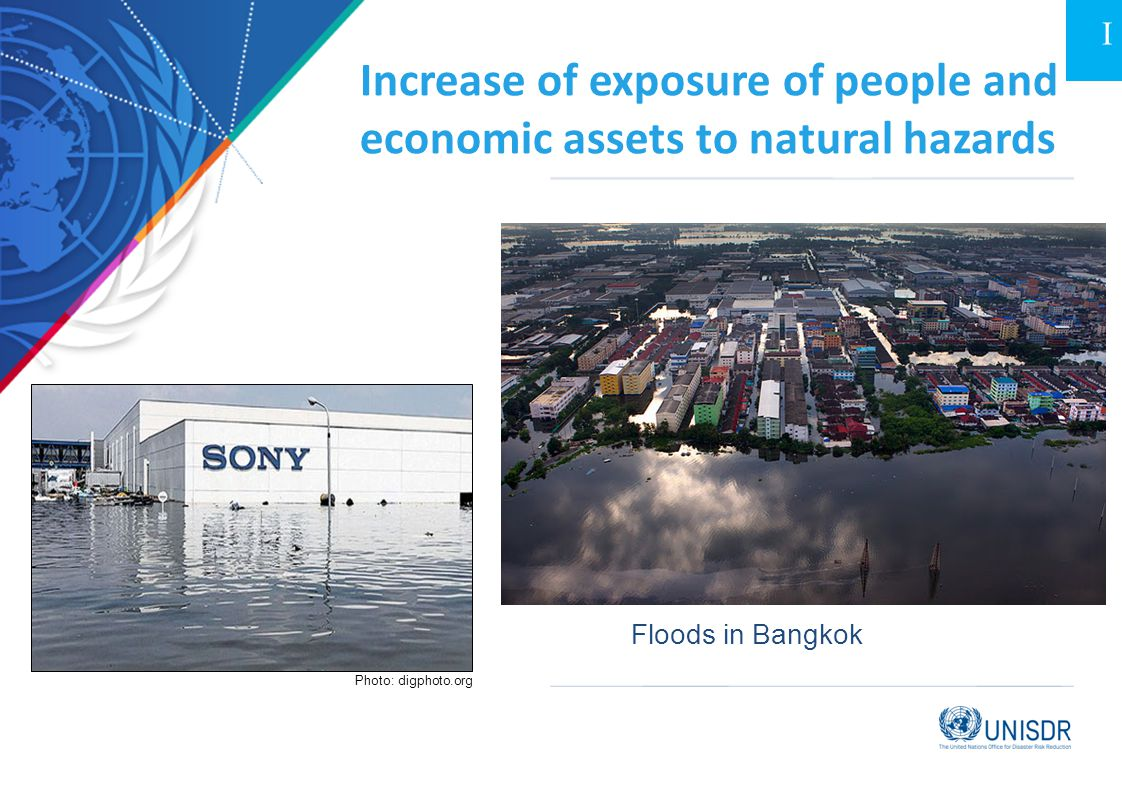 Increase of exposure of people and economic assets to natural hazards