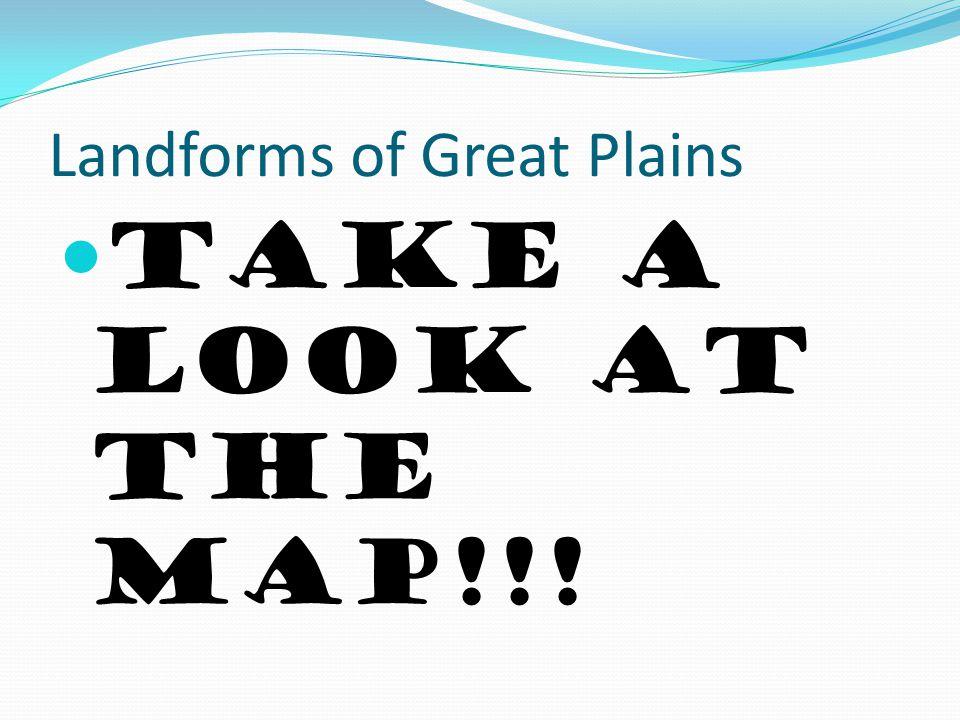 Landforms of Great Plains