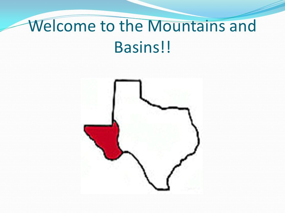 Welcome to the Mountains and Basins!!