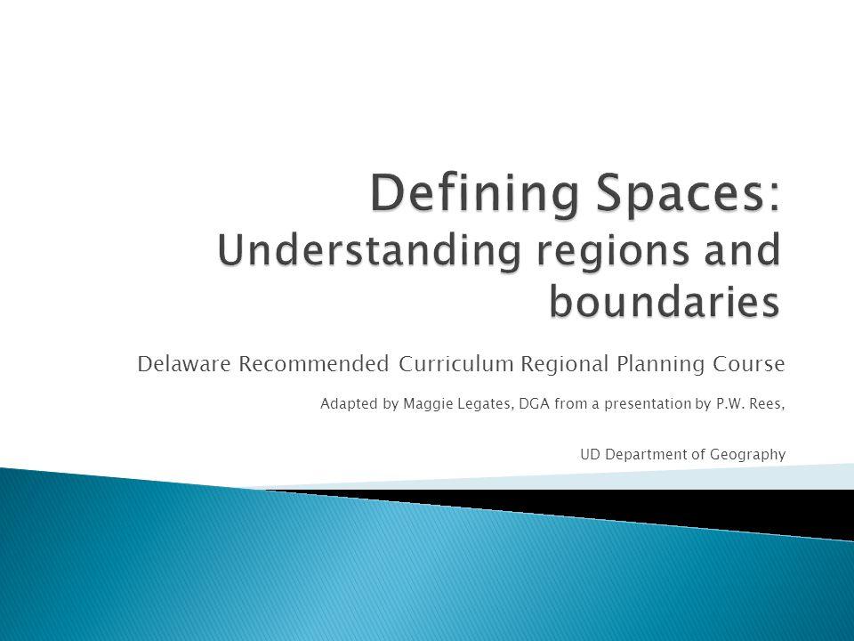 Defining Spaces: Understanding regions and boundaries