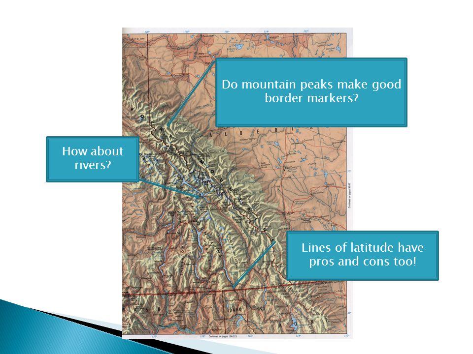 Do mountain peaks make good border markers