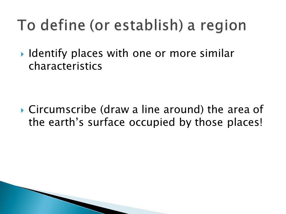 To define (or establish) a region