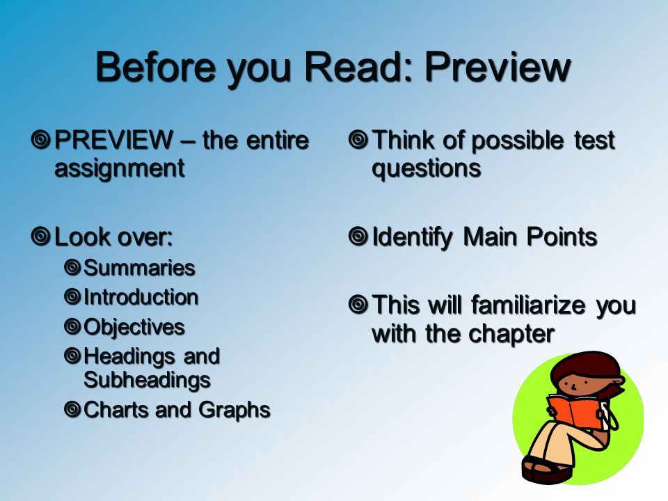 Before you Read: Preview