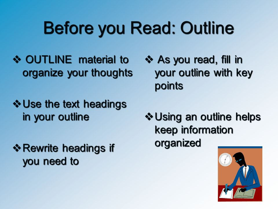 Before you Read: Outline