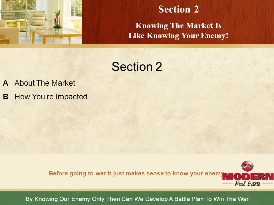 Section 2 Section 2 Knowing The Market Is Like Knowing Your Enemy!