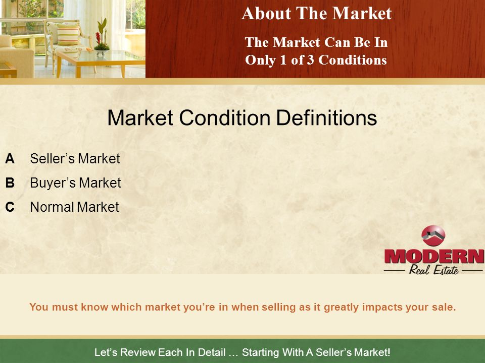 The Market Can Be In Only 1 of 3 Conditions