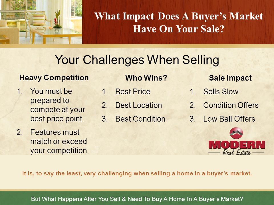 What Impact Does A Buyer's Market Have On Your Sale