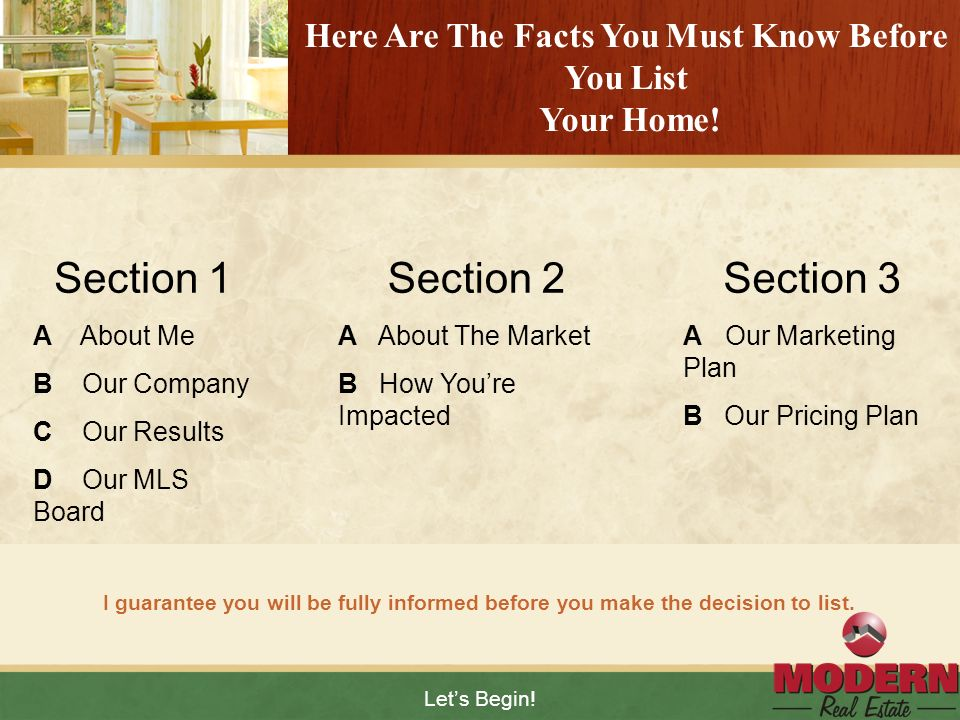Here Are The Facts You Must Know Before You List Your Home!