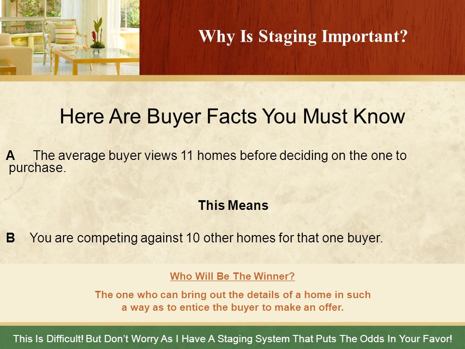 Why Is Staging Important