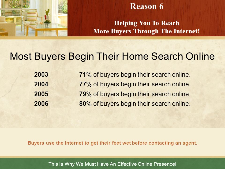 Reason 6 Helping You To Reach More Buyers Through The Internet!